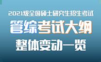 2021全国硕士研究生招生考试【管综】考试大纲整体变动一览